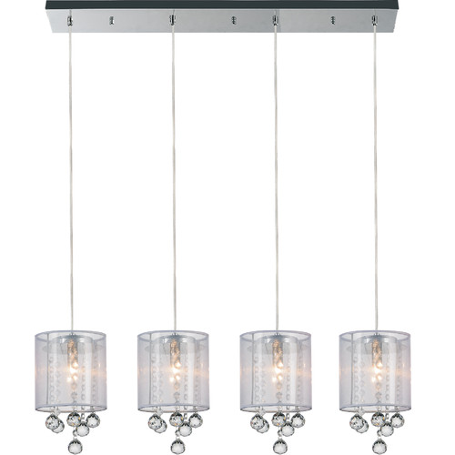 CWI Lighting 4-Light Kitchen Island Pendant by Crystal World