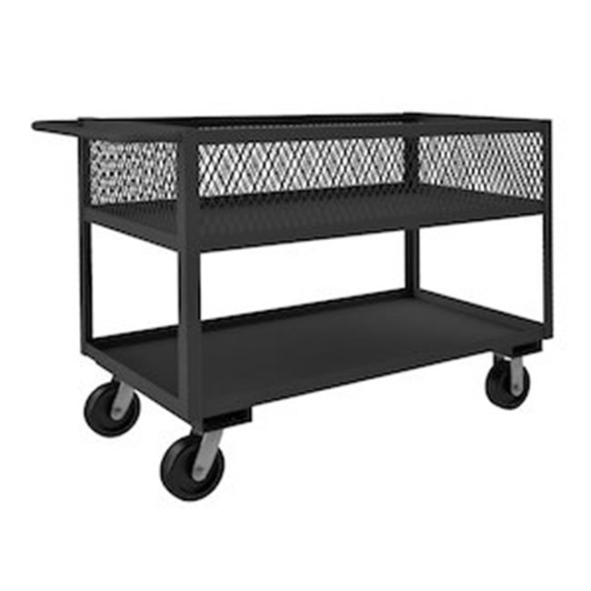 Durham RSC12-EX2448-2-3.6K-95 37 in. Rolling Service Cart, Gray - 3600 lbs