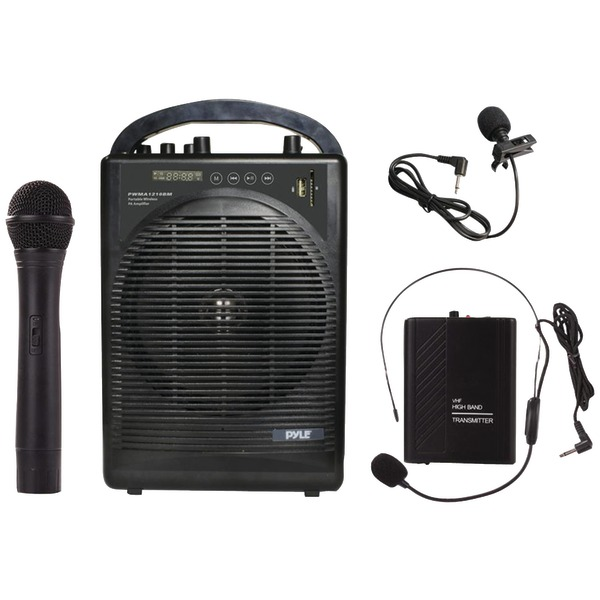 Pyle PRO PWMA1216BM Portable Amp & Microphone System with...