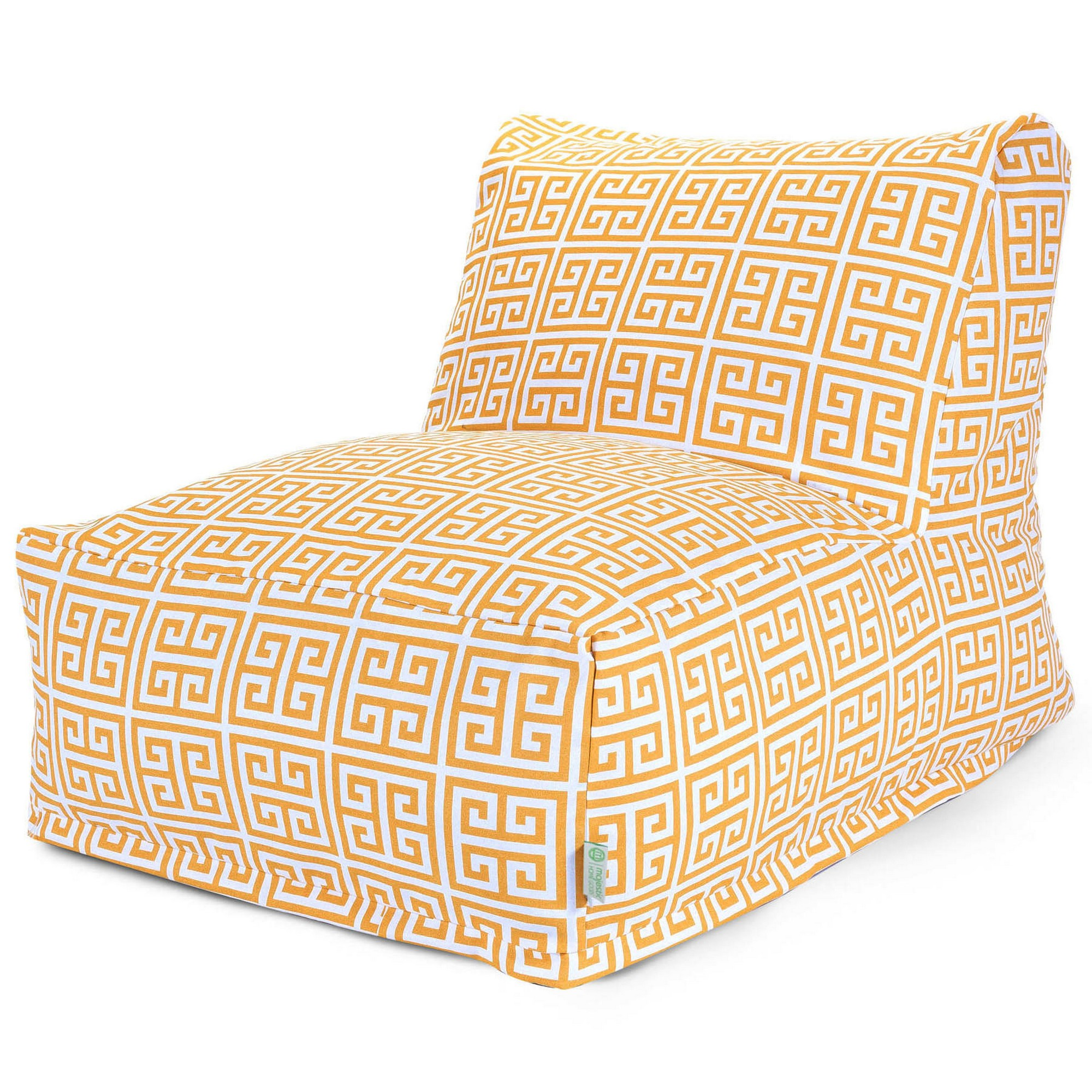 Majestic Home Goods Indoor Outdoor Citrus Towers Chair Lounger Bean Bag 36 in L x 27 in W x 24 in H