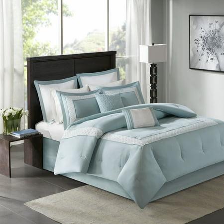 Home Essence Heritage 8 Piece Comforter Bedding Set with - Comforter Set 18 Bedskirt