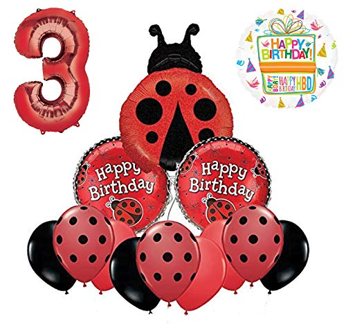 Mayflower Products Ladybug 3rd Birthday Party Supplies Balloon Bouquet Decoration](Ladybug Birthday Party)
