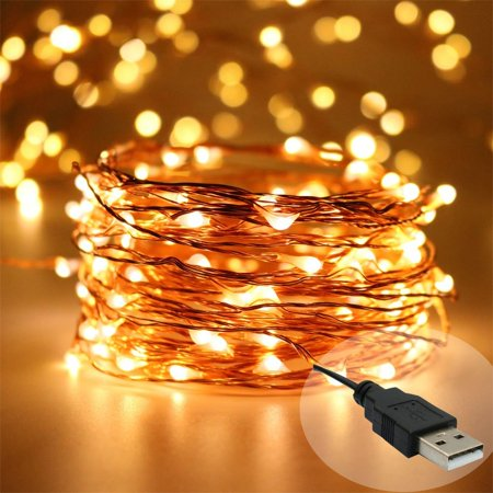 Zimtown Led String Lights Usb Ed 33ft 100 Leds Fairy Waterproof Decorative For Indoor