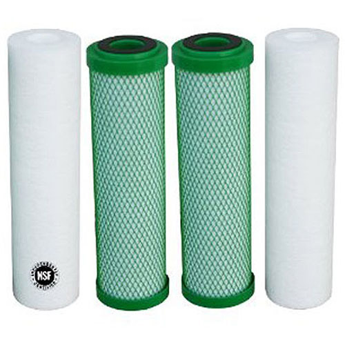 Premier 560017 Green Block Replacement Filters for 4-Stage RO, 4pk