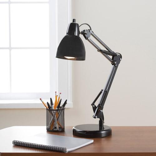 Get it Together Adjustable Task Lamp, Rich Black - Walmart.com