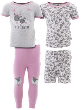 Duck Duck Goose Girls Snuggle Buds Cotton 2-Pack Pajamas