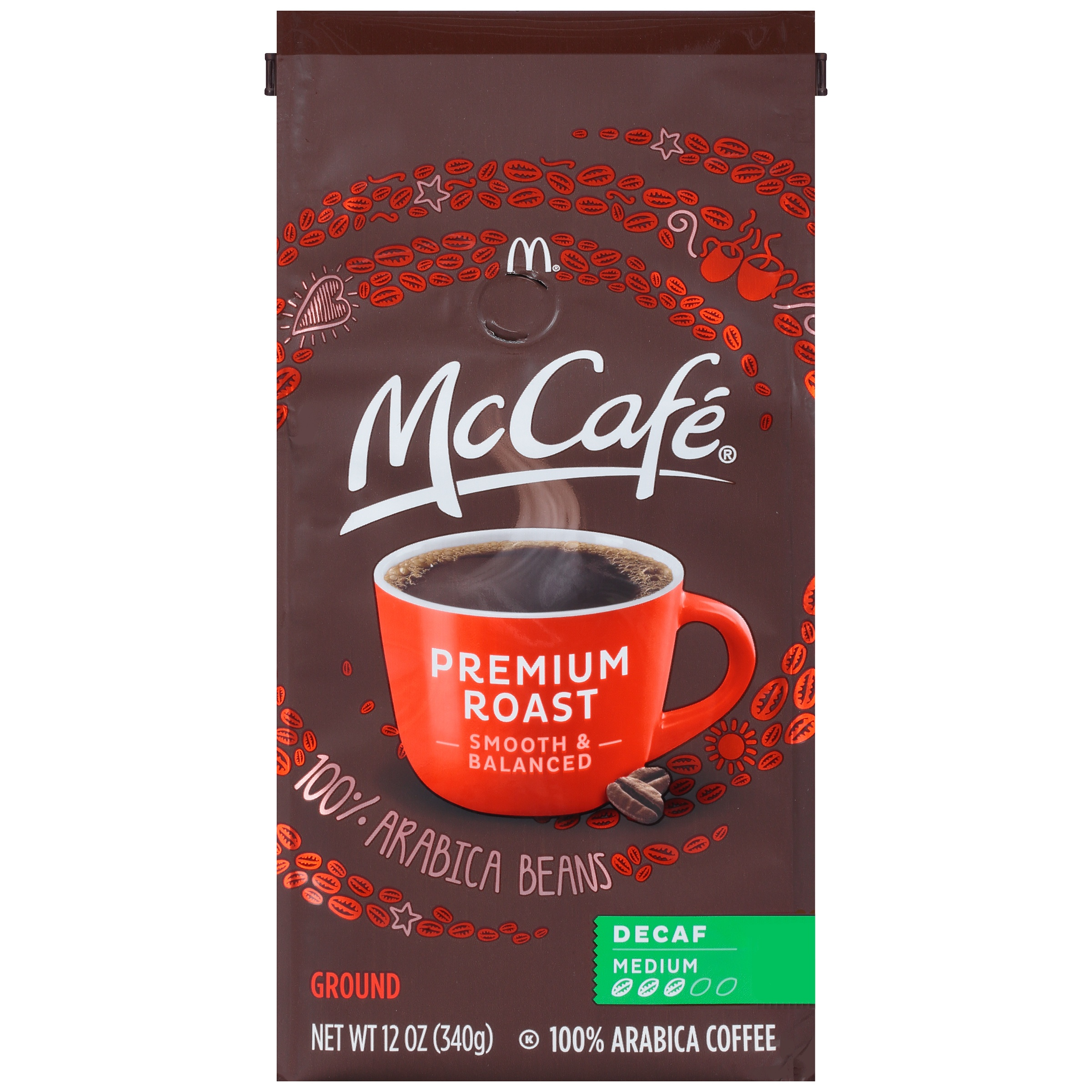 McCafe Decaf Premium Roast Ground Coffee 12 oz. Bag