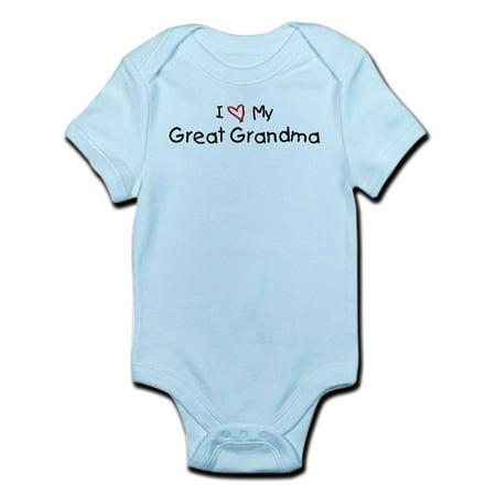 CafePress - I Love My Great Grandma Infant Bodysuit - Baby Light - I Love My Grandma Onesies