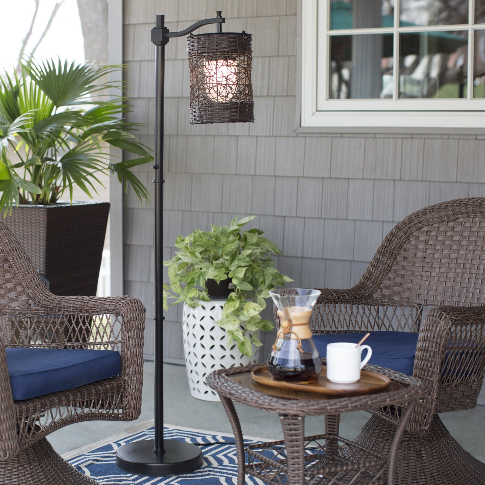 Kenroy 32144ORB Brent Outdoor Floor Lamp