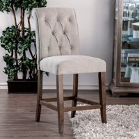Furniture Of America Harrington Scroll Back Button Tufted Counter Height Dining Side Chairs Set Of 2
