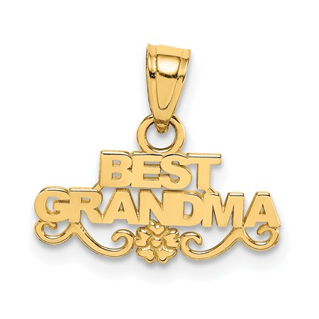 14kt Yellow Gold Best Grandma Pendant Charm Necklace Special Person Grma Fine Jewelry Ideal Gifts For Women Gift Set From -