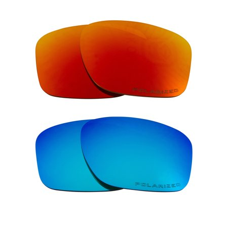 SLIVER Replacement Lenses Polarized Blue & Red by SEEK fits OAKLEY (Amazon Sunglasses Oakley)