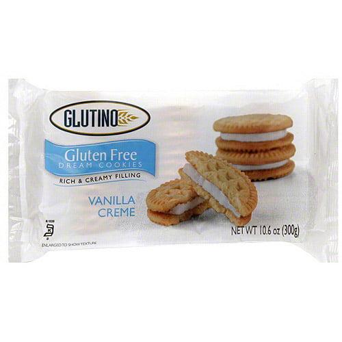 Glutino Vanilla Creme Cookies, 10.6 oz (Pack of 12)