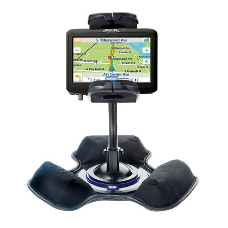 Vehicle Mount System - Car / Truck Vehicle Holder Mounting System for Magellan Roadmate 1400 Includes Unique Flexible Windshield Suction and Universal Dashboard Mount Option
