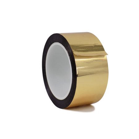 WOD MMYP-1 Metalized Polyester Mylar Film Tape with Acrylic Adhesive, Gold - 4 in. x 72 yds. Excellent Chemical and Thermal Stability. (Available in Multiple Colors)