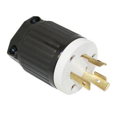 Twist Lock Male Electric Plug End 3 Wire, 20 Amps, 250V, Nema L6-20P Twistlock ()