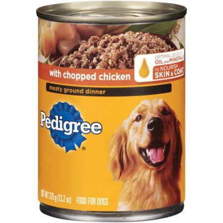 Pedigree Chopped Ground Dinner With Chicken Wet Dog Food, 13.2 Oz