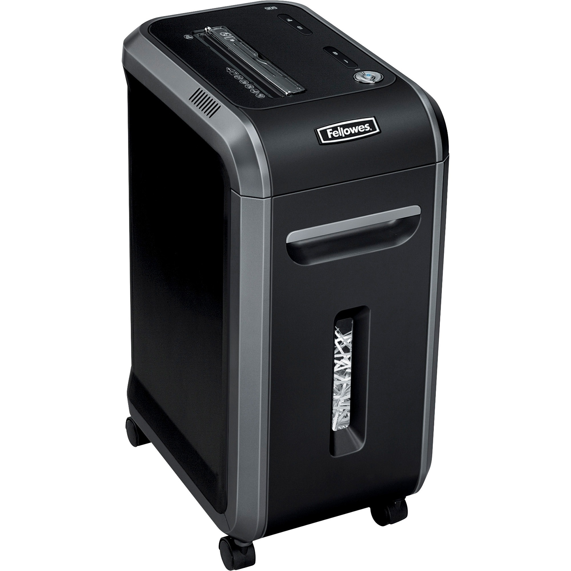 Fellowes, FEL4690001, Powershred® 90S Strip-Cut Shredder, 1 Each, Black,Dark Silver