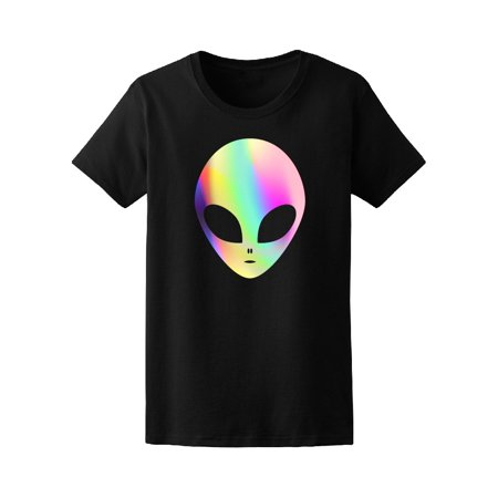 Multicolored Trendy Alien Space  Tee Women's -Image by