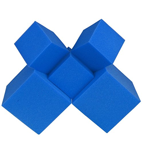 "Foam Pits Cubes/Blocks 68 pcs. (BLUE) 8""x8""x8"" (1536) Flame Retardant Pit Foam Blocks For Ninja Obstacle Course, Skateboard Parks, Gymnastics Companies, and Trampoline Arenas"