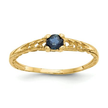 3 Mm Sapphire Heart - 14k Madi K 3mm Sapphire Birthstone Baby Ring