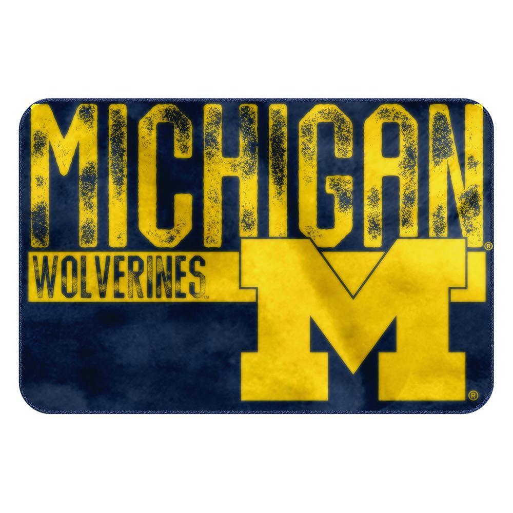 Michigan Wolverines NCAA Bathroom Decorative Foam Rug