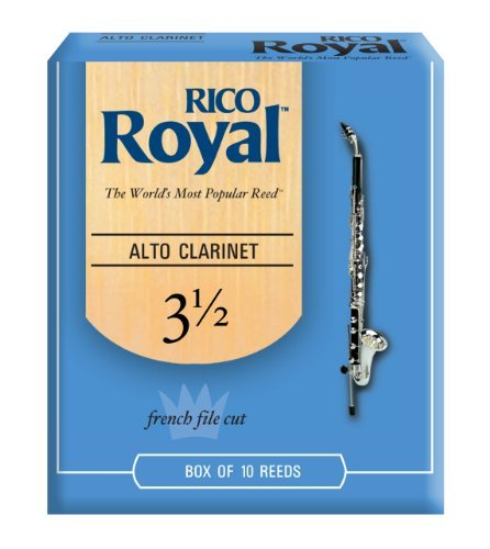 Rico Royal Alto Clarinet Reeds, Strength 3.5, 10-pack by Rico