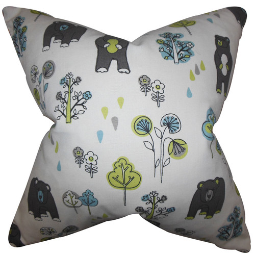 The Pillow Collection Madigan Floral Cotton Throw Pillow