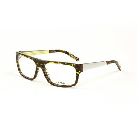 J.F. Rey Eyeglass Frames 55.5mm Anise-Brown/Aluminum - Walmart.com