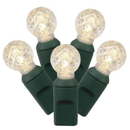 Set of 100 Warm White LED G12 Berry Christmas Lights 4