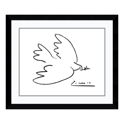 Amanti Art 'Dove of Peace' by Pablo Picasso Framed Painting Print