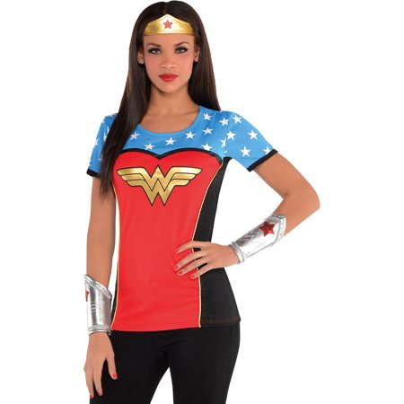 Halloween T Shirt Costumes (Suit Yourself Wonder Woman T-Shirt Halloween Costume for)