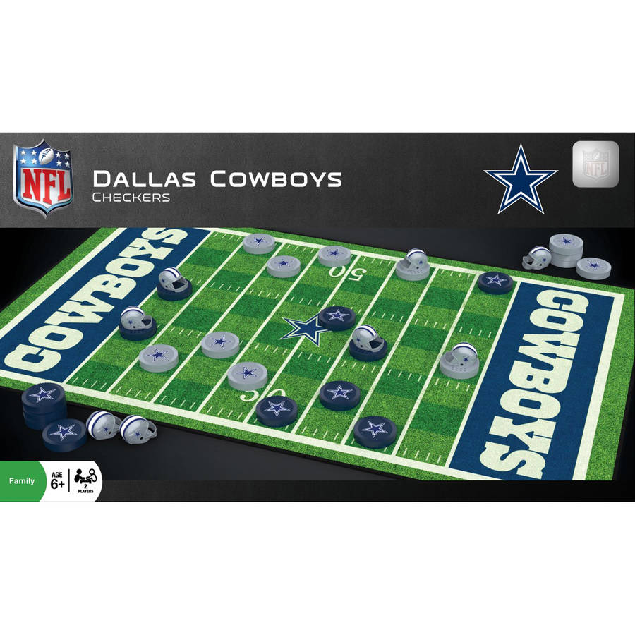 NFL Dallas Cowboys Team Checkers