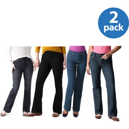 Signature by Levi Strauss; Co. Women;s Totally Slimming At-Waist Bootcut Jeans 2pk Value Bundle