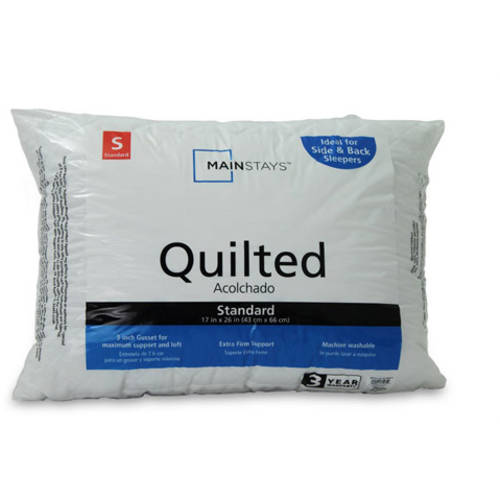 Mainstays Quilted Microfiber Bed Pillow