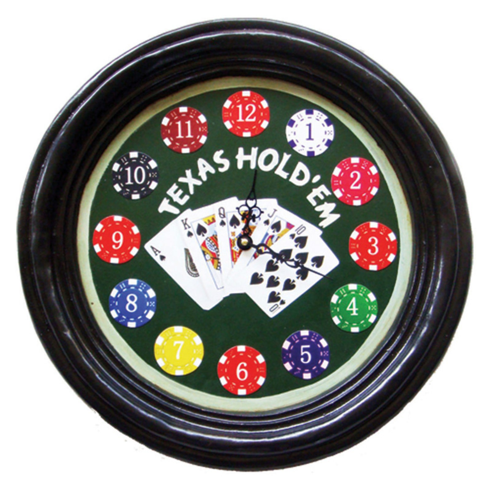 Texas Hold Wall Clock
