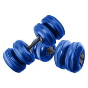 20-25KG Water-filled Dumbbell Fitness Equipment Training Arm Muscle Fitness Adjustable Convenient Water Injection Dumbbells for Men