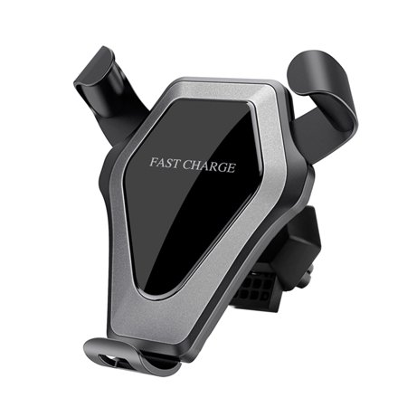 DKJ 2-in-1 Design Qi Standard Car Wireless Stand Gravity Car Mount Air Vent Phone Holder Cradle Fast Wireless Charging Stand for X/8/8 Plus & Galaxy S8/S8+/S7 Edge/S7/S6 Edge+/Note 5/Note 8 - image 4 of 7