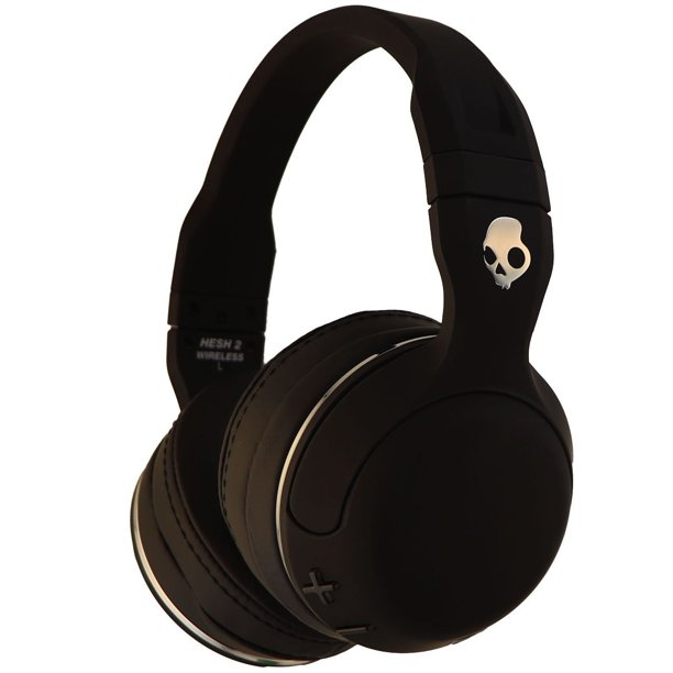 Skullcandy Hesh 2 Wireless Bluetooth Over Ear Headphones Black Refurbished Walmart Com Walmart Com