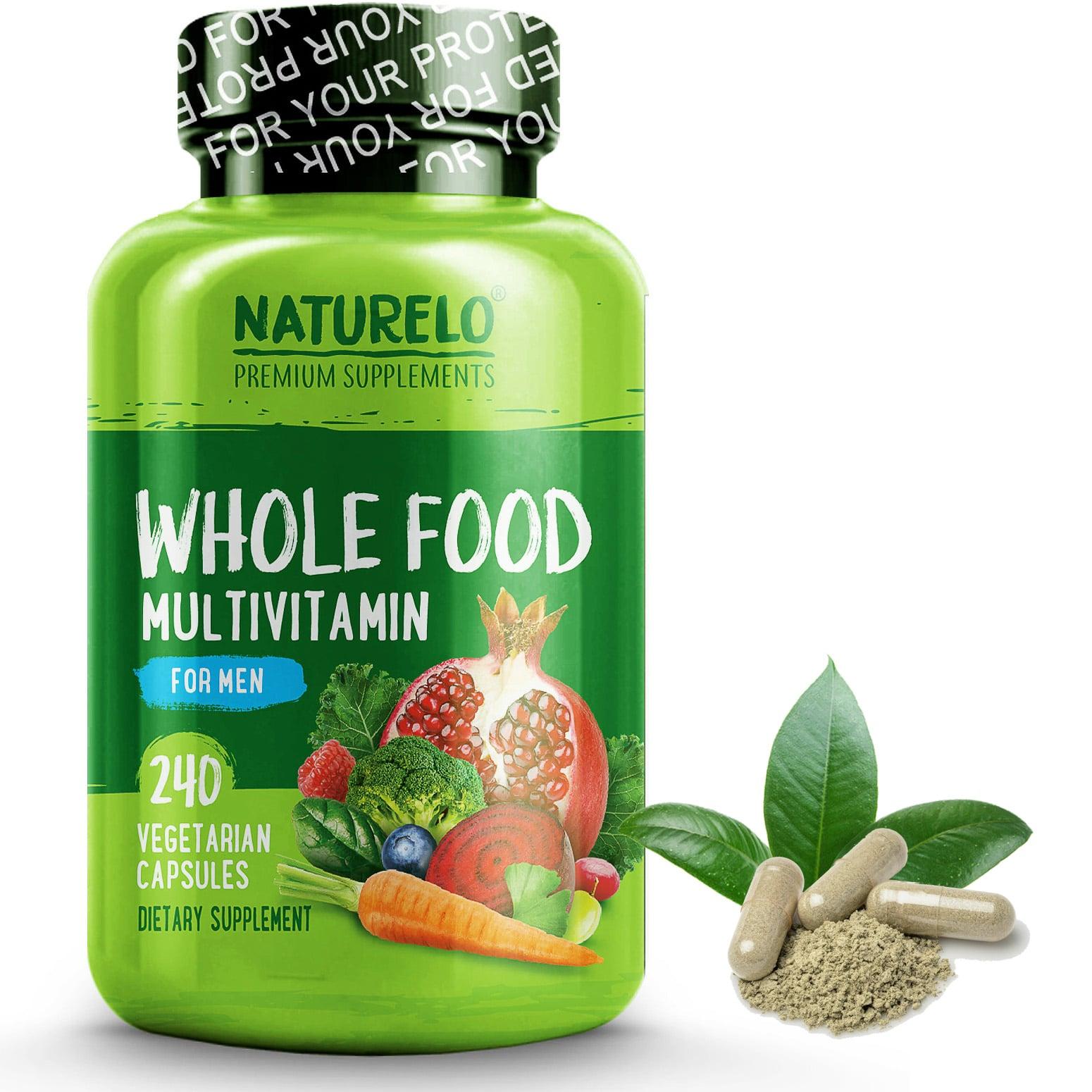 Whole Food Multivitamin for Men - Vegan/Vegetarian - 240 Capsules