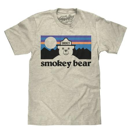 c1fc48e1994 Tee Luv - Tee Luv Smokey Bear Mountains T-Shirt - Licensed Smokey ...