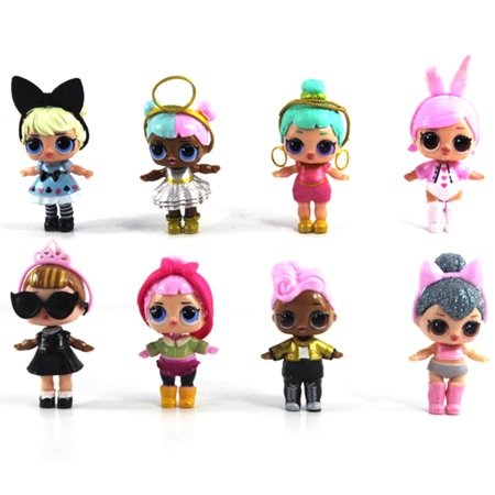 Antsir 8 Pcs Surprise Doll Pvc Figures Figurines Kids Gifts Toys Cake Topper