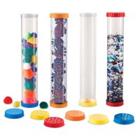 Learning Resources Primary Science Sensory Tubes, Set of 4 Tubes