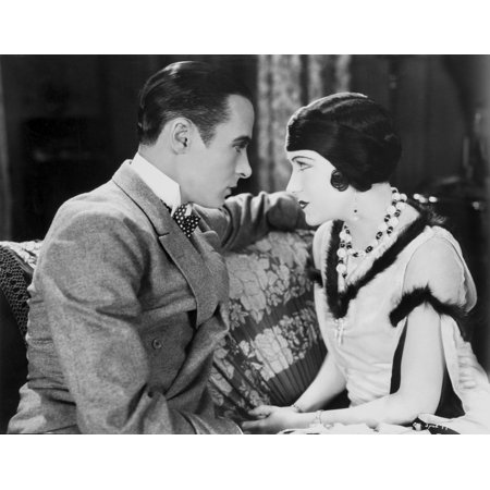 Gloria Swanson Staring with a Guy wearing Formal Outfit Photo Print - Guy Outfits
