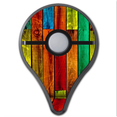 Skins Decals For Pokemon Go Plus (2-Pack) Cover / Colorful Wood - Pokemon Pattern