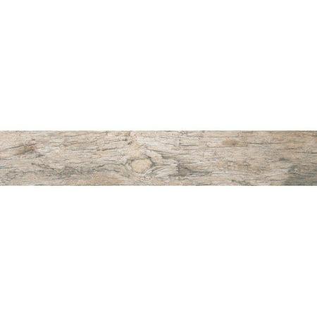 """MS International Redwood Natural 6"""" x 24"""" Porcelain Wood Tile in Glazed Textured"""