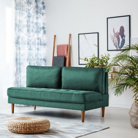 Zinus Christine Armless Sofa Forest Green Walmart Com