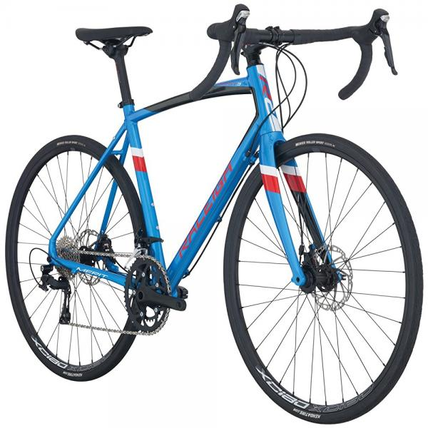 raleigh bikes merit 3 endurance road bike, blue, 58cm/x-large