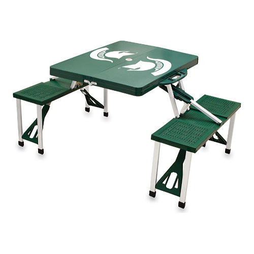 Picnic Time Folding Table Michigan State Spartans