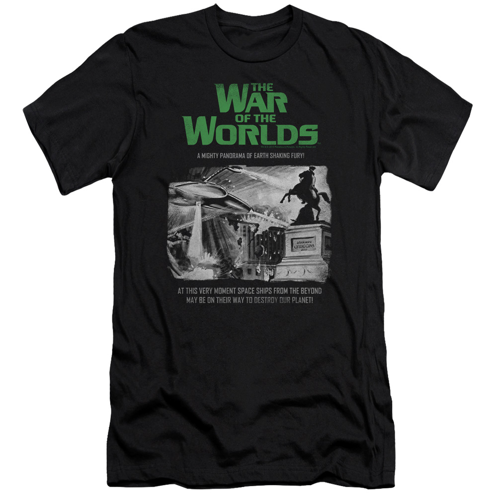The War Of The Worlds Attack People Poster Mens Slim Fit Shirt